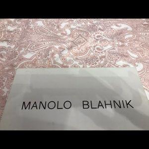 Manolo Blahnik white pumps